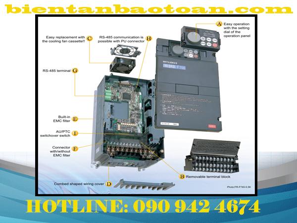 Tên sản phẩm : INVERTER FR-F700 Series