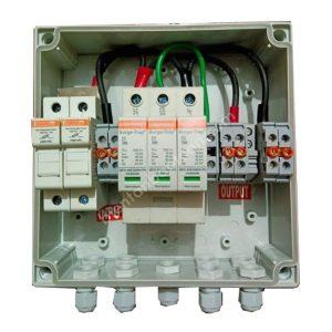 Tủ điện DC Solar 1000V-2IN 2OUT với 1 SPD