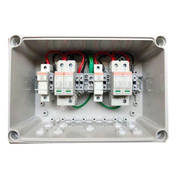 Tủ điện DC Solar 1000V - 2IN 2OUT với 2 SPD