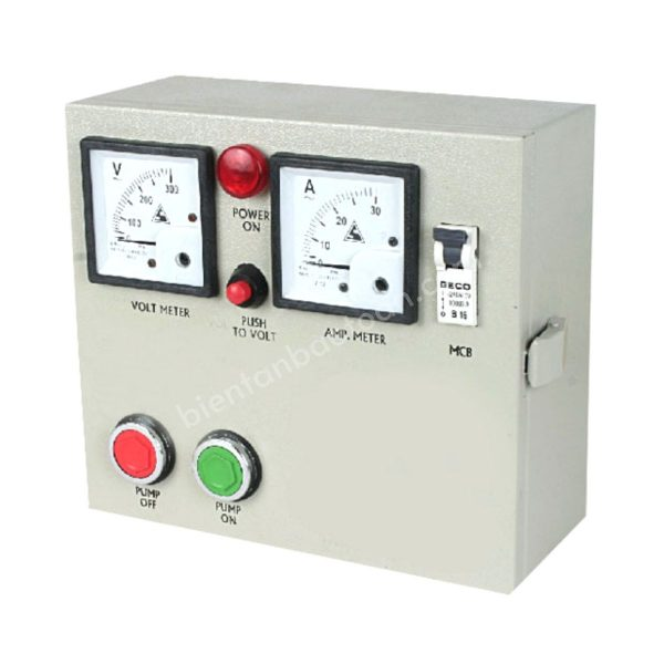 Tủ điện điều khiển Bơm rửa tấm pin năng lượng mặt trời